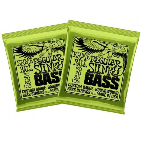 Ernie Ball 2832 Regular Slinky Snaren voor Elektrische Basgitaar (50-105) 2-Pack