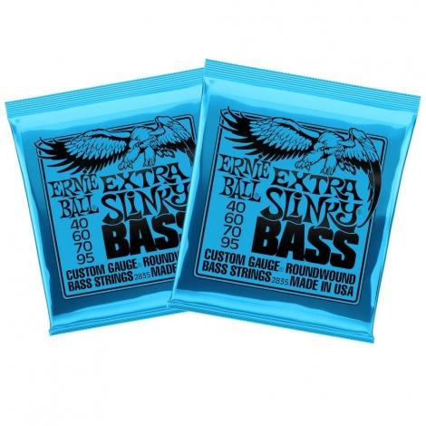 Ernie Ball 2835 Extra Slinky Snaren voor Elektrische Basgitaar (40-95) 2-Pack