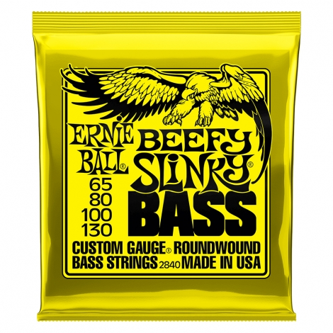 Ernie Ball 2840 Beefy Slinky Bassnaren Drop B en Drop C (65-130)