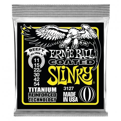 Ernie Ball 3127 Coated Slinky's Titanium Snaren voor Elektrische Gitaar (11-54)
