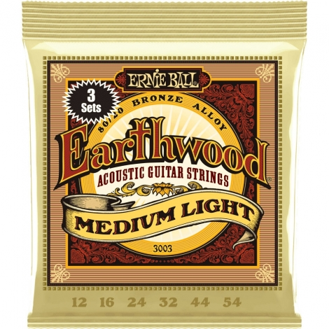 Ernie Ball Earthwood 3003, Triopack 2003 akoestische gitaarsnaren