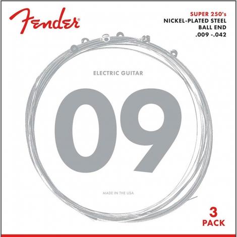 Fender 250L-3 Elektrische Gitaarsnaren (9-42) 3-Pack