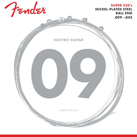 Fender 250L Snaren voor Elektrische Gitaar (9-42)