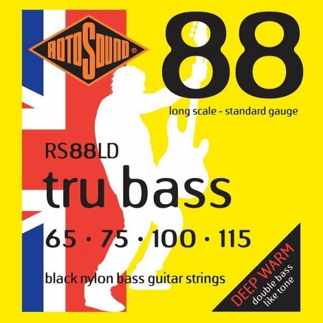 Rotosound RS88LD Black Nylon Bassnaren (65-115)