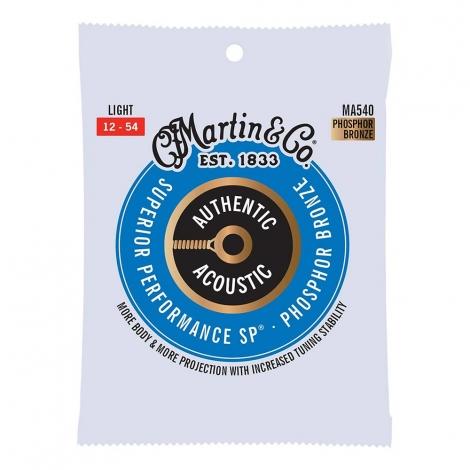 Martin MA540PK3 Snaren voor Akoestische Gitaar (12-52) Phosphor Bronze, Light