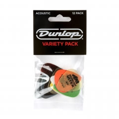 Dunlop PVP112 Acoustic Variety Plectrum 12-Pack